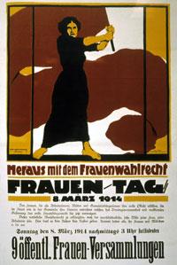 Plakat Frauenwahlrecht, Foto: LMZ-BW. Jaeger