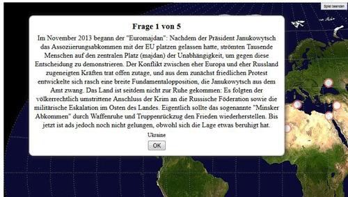 LearningApps: Zuordnung auf Landkarte