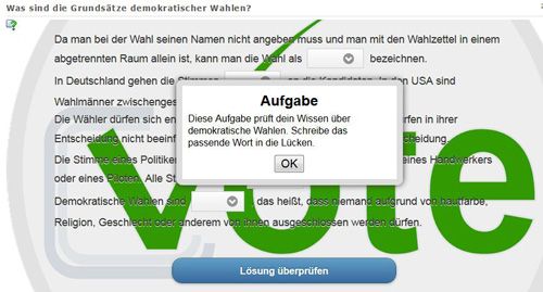 LearningApps: Lückentext