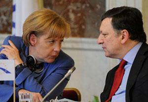 Angela Merkel und José Manuel Barroso