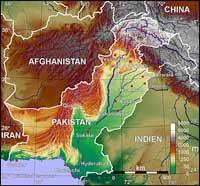 Karte Pakistan. Quelle: BishkekRocks, Wikimedia, Lizenz: CC BY-SA 3.0