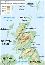 Übersichtskarte Schottlands. Bild: Wikimedia Commons. Eric Gaba. CC BY-SA 3.0.