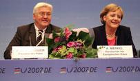 Frank-Walter Steinmeier und Angela Merkel. Foto: Auswärtiges Amt