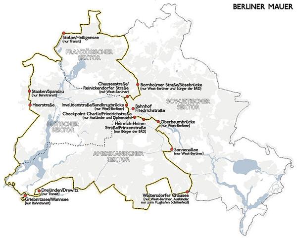 Bau Der Berliner Mauer 13 August 1961