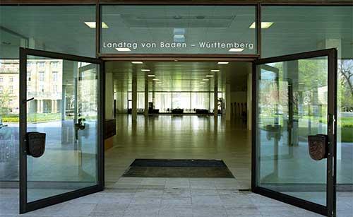Eingang zum Landtag Foto:lmz