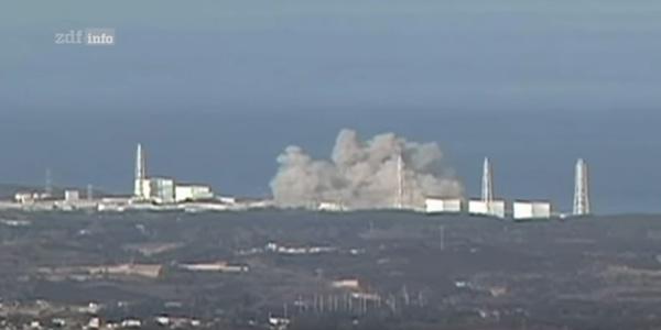 Explosion des Atomkraftwerkes in Fukushima.