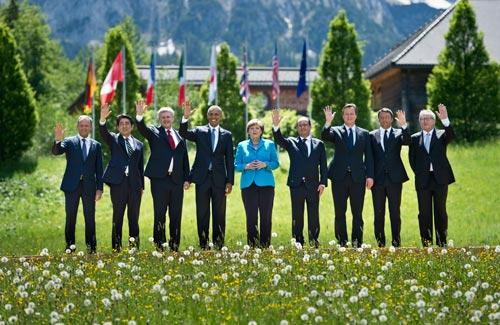 Bandspange G7 Gipfel 2015 Elmau Ordensspange Bandschnalle
