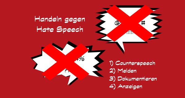 Handeln gegen Hate Speech. Grafik: LpB BW / Rebecca Beiter.