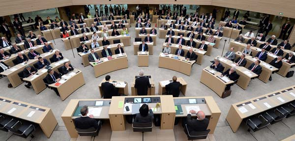 Plenarsitzung im Landtag Baden-Württemberg.