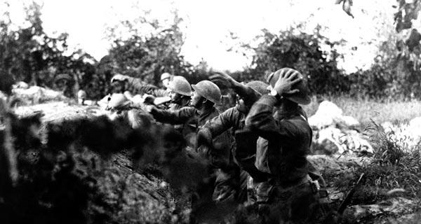 Amerikanische Soldaten an der Piave-Front 1918